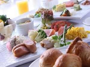 十勝の食材をふんだんに使った和洋朝食バイキング