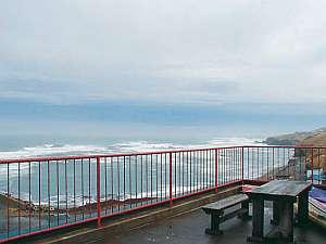 百人浜からえりも岬まで見渡せる2階テラス