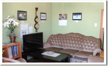 アット―ホームな雰囲気で寛げる談話室